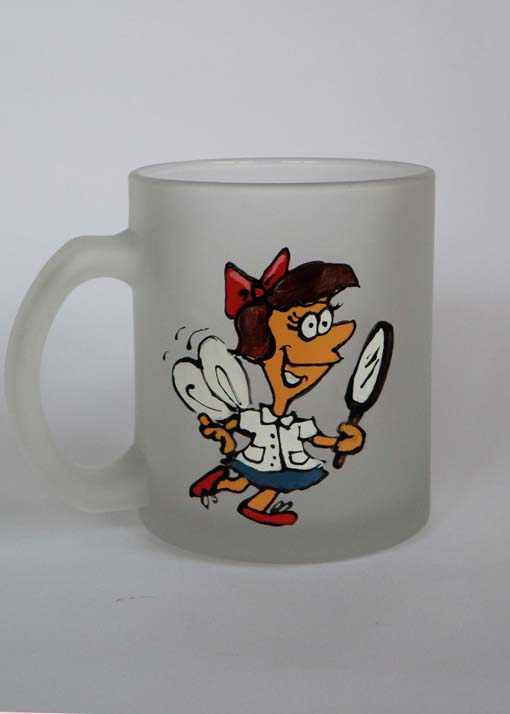 Hand painted cartoon cups