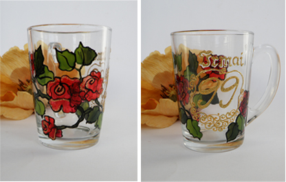 Transparent glass cups